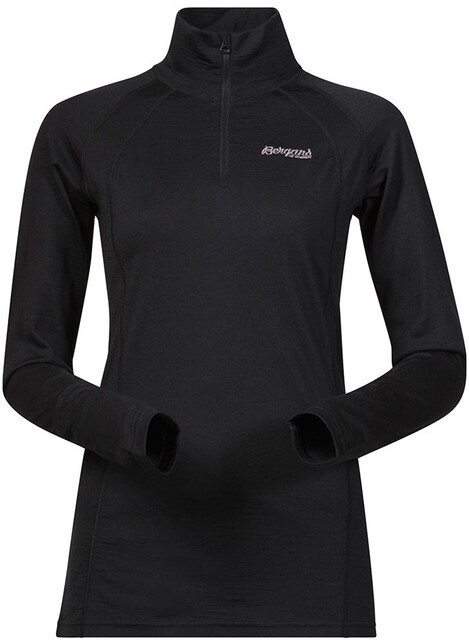 Bergans Fjellrapp Half Zip Top Women, black